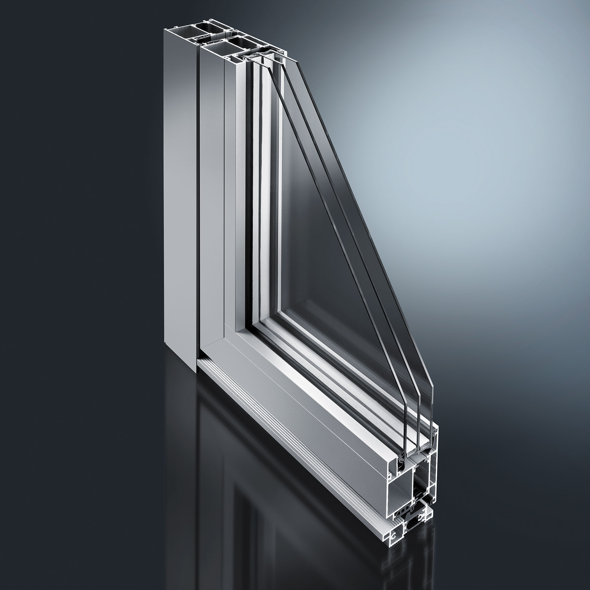 Profile systems for front doors and doors - We offer aluminium attachment shells for wood doors and modern standard models made of aluminium as well as profile system for separation and wall elements.