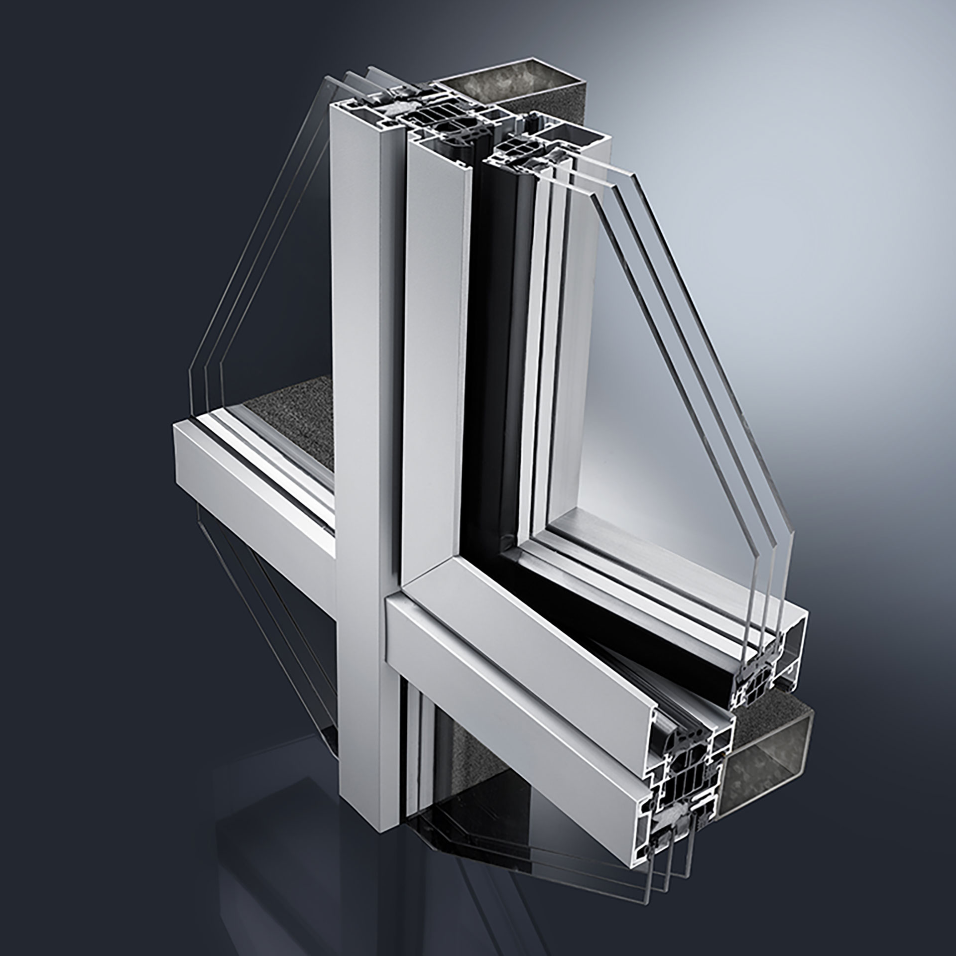 The GUTMANN F50+ / F60+ glazing systems for substructures made of steel or wood are an installation-friendly and affordable solution for curtain walls. They are perfect for elaborate glass roofs, large-scale, multi-storey & often divided facade surfaces.