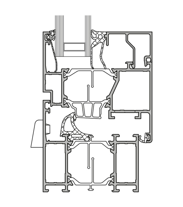 GUTMANN S70+ - wärmegedämmtes Aluminium Fenster- & Tür-System