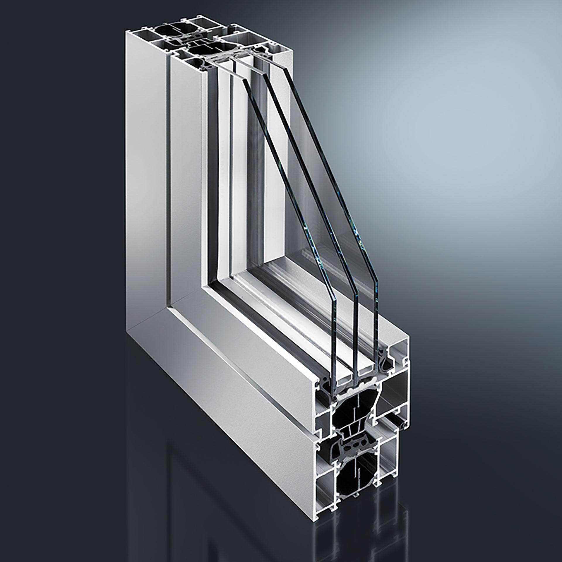 GUTMANN S70+HW - hochwärmegedämmtes Aluminium Fenster- & Tür-System