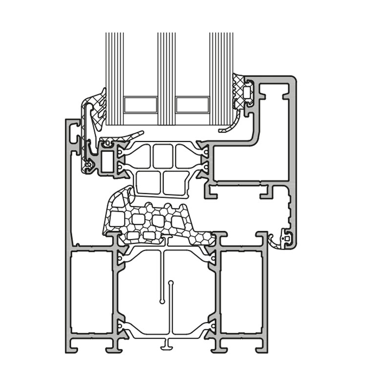 GUTMANN S70v+HW - hochwärmegedämmtes Alu Fenster- & Tür-System ...