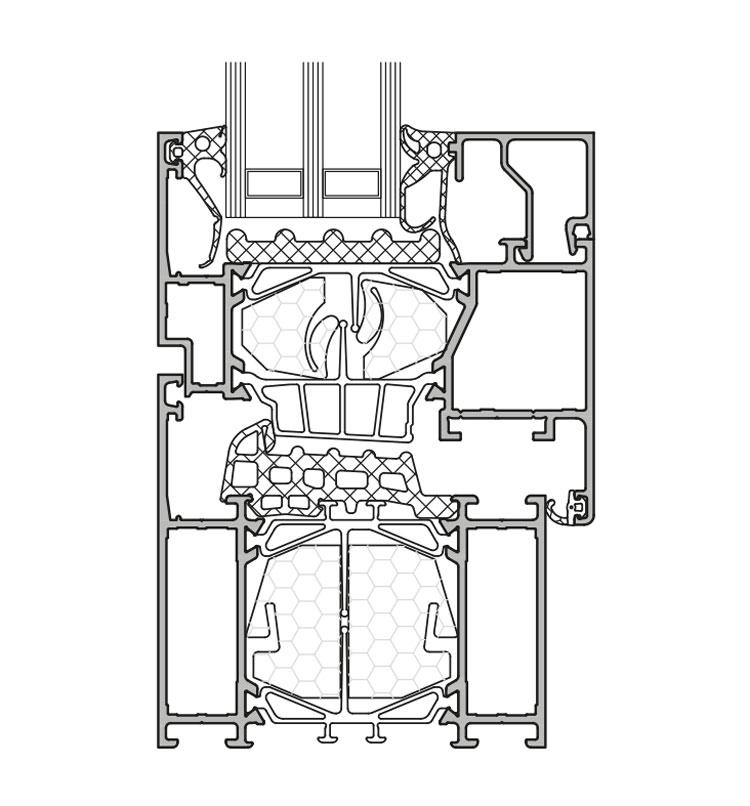 GUTMANN S80+HW - hochwärmegedämmtes Aluminium Fenster- & Tür-System