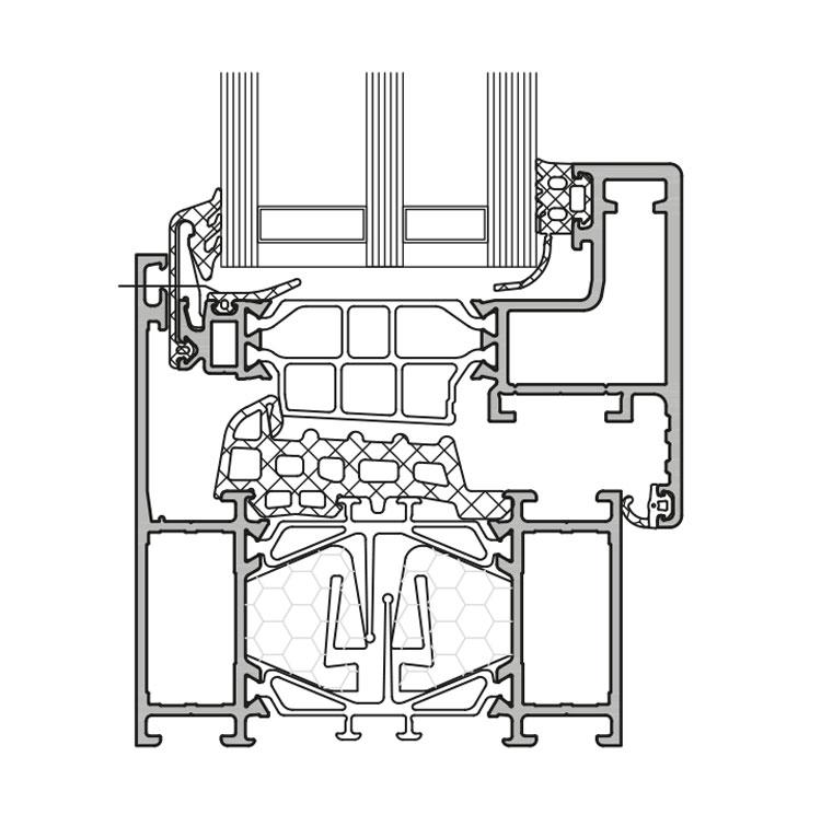 GUTMANN S80v+HW - wärmegedämmtes Alu Fenster- & Tür-System ...